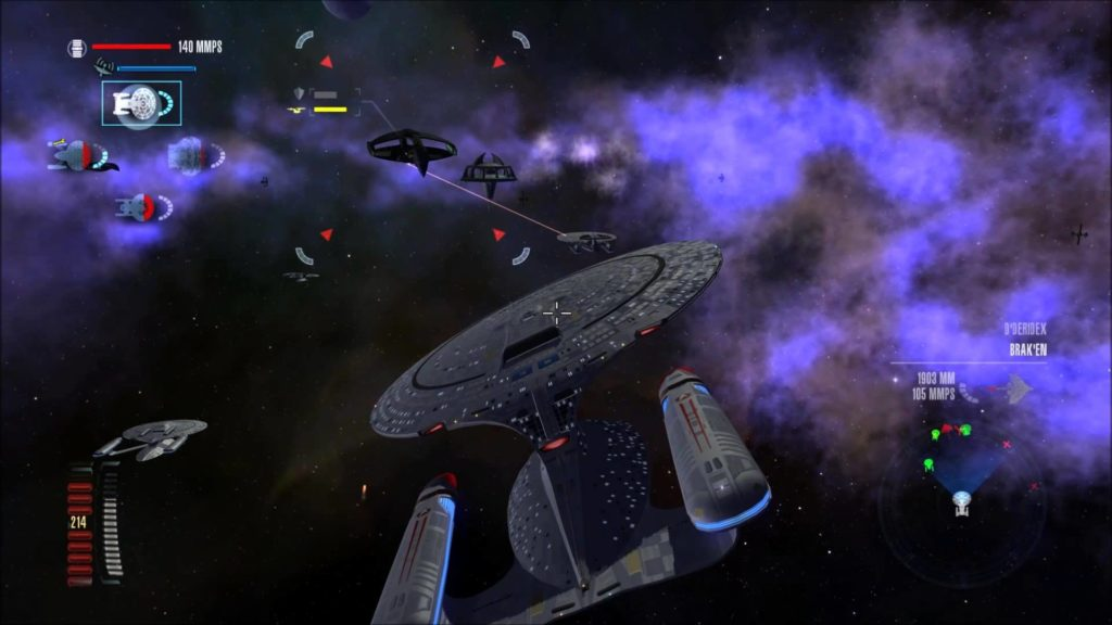 Space sim first look: star trek legacy wing commander cic.
