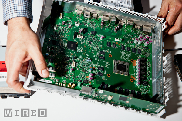 The motherboard.